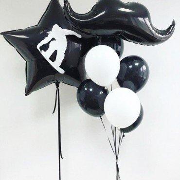 Украшение шарами на День Рождения для сына с индивидуальной наклейкой
