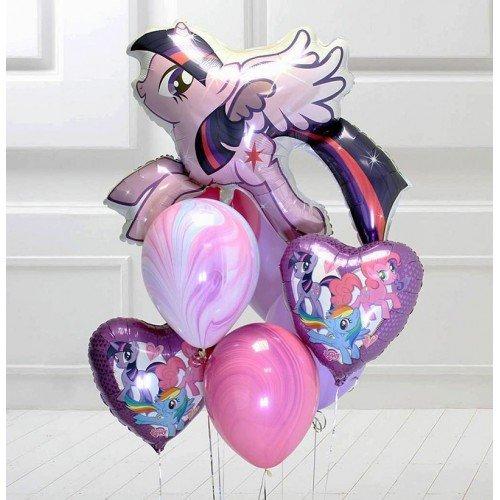 Воздушные шары с май литтл пони и агатами
