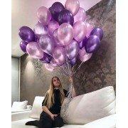 Шарики фиолетовый, розовый, сиреневый микс