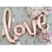 """Фольгированный шар """"Love"""" розовое золото"""