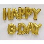 """Фольгированный воздушный шар в виде надписи """"Happy b-day"""""""