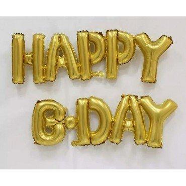Фольгированный шар Happy B-Day золотого цвета