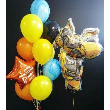 Украшение шарами в стиле Трансформеров на День Рождения