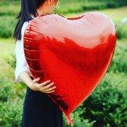 Фольгированное сердце красное 32 дюйма