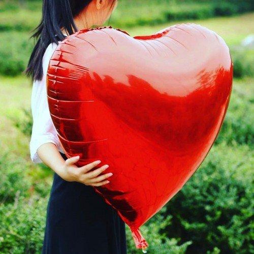 Большое фольгированное сердце 32 дюйма