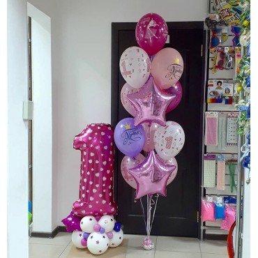 Воздушные шары на годовасие для девочки с рисунками