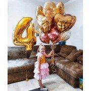 """Воздушные шары для девочки """"Золотые воспоминания"""""""
