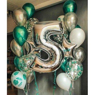 Воздушные шарики на 5 лет для сына с цифрой