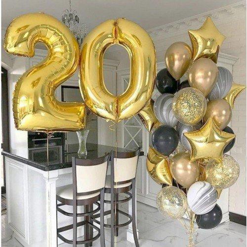Украшение шарами на день рождения парня 20 лет