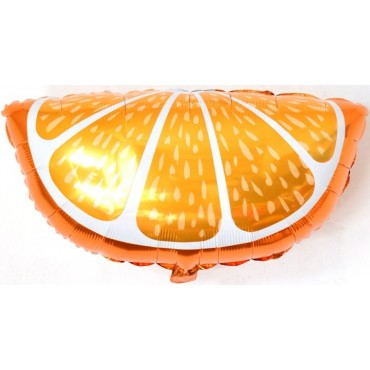 Фольгированный шар кусочек апельсина оранжевый