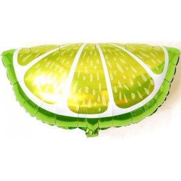 Фольгированный шар кусочек лайма зелёный