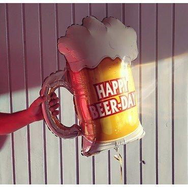 Фольгированный шар бокал пенного пива