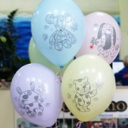 Воздушные шары с рисунком Зверюшки-Игрушки
