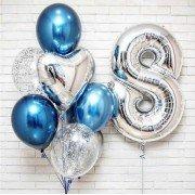 Воздушные шары для мальчика на 8 лет с хромом
