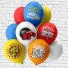 Гелиевые шарики с машинками для мальчика не день рождения