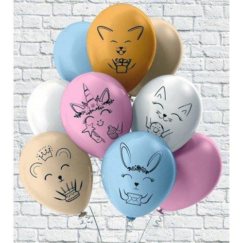 Воздушные шарики для девочки со зверятками