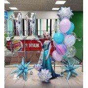 Комплект шаров с Эльзой на 11 лет