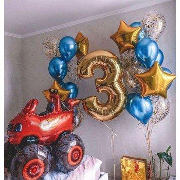Воздушные шары монстр траки на 3 года для мальчика