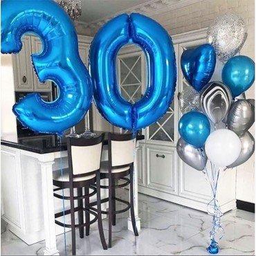 Оформление воздушными шарами юбилея мужчины 30 лет