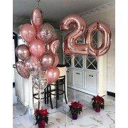 Шарики для девушки на 20 лет в стиле розовое золото