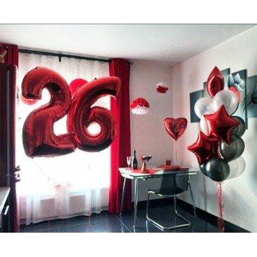 Украшение шарами для девушки на 26 лет