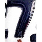 Фольгированная цифра 7 чёрного цвета