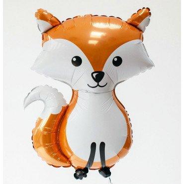 Фольгированный шар рыжий лисёнок