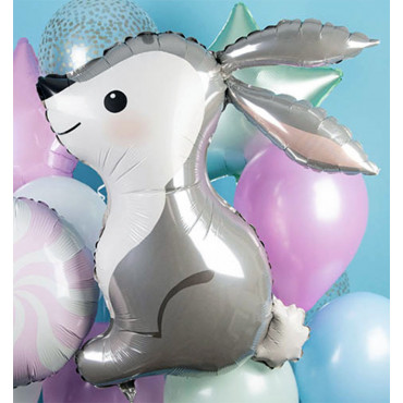 Фольгированный шар серый заяц