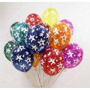 Гелиевые шары со звездами кристалл