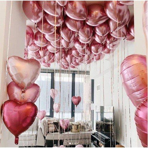 Нежное украшение шариками на 8 марта