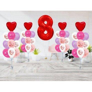 Оформление шарами квартиры на 8 марта