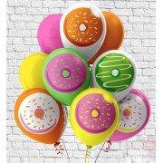 Гелиевые шары сладкие пончики