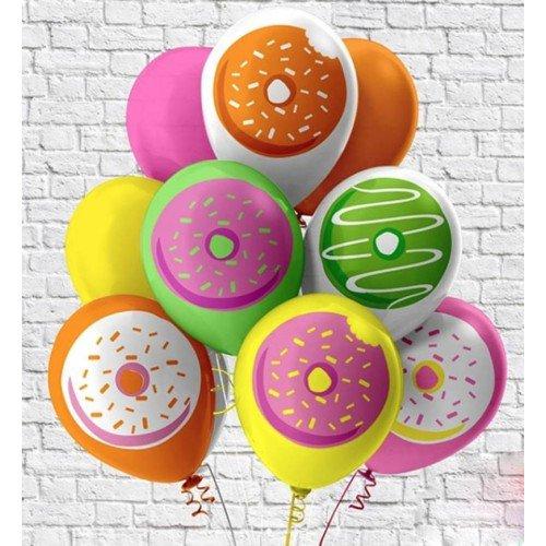Гелиевые шарики пончики сладкие
