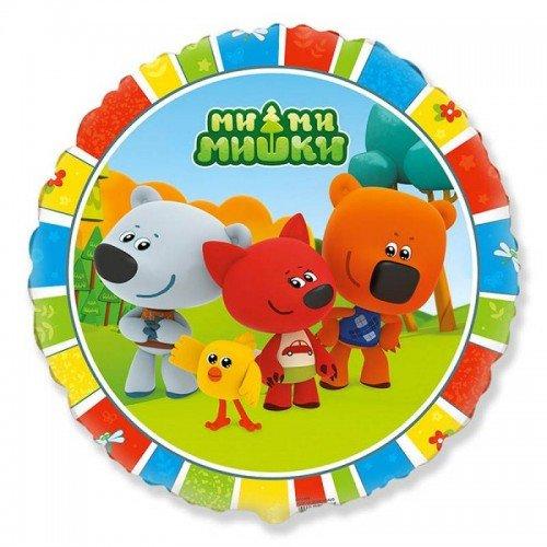 Фольгированный круг с героями мультфильма Ми-ми-мишки
