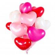 Гелиевые шарики для влюбленных Сердца Микс