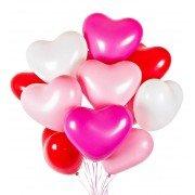 Шарики на 14 февраля микс из сердец