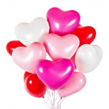 Шарики на день всех влюбленных сердца микс