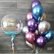 """Воздушные шары хром в композиции """"Для Любимой"""""""