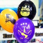 Воздушные шары с рисунком тыквы и единорога