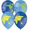 Латексные шарики с рисунком Земля