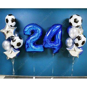 Шарики для мужчины на 24 года с футбольными мячами