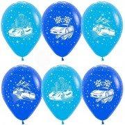 Воздушные шарики для мальчика с рисунком гоночных авто