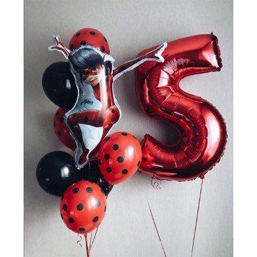 Воздушные шарики для девочки на 5 лет с Леди Баг