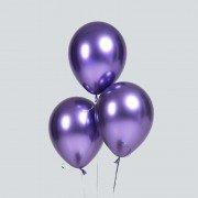Шарики хром фиолетовые