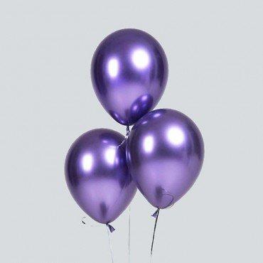 Хромированные воздушные шарики фиолетового цвета