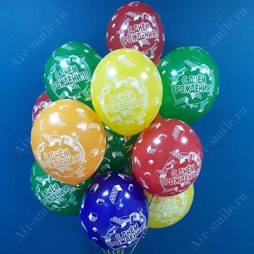 Воздушные шарики на День Рождения с конструктором лего