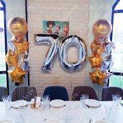 Воздушные шары на юбилей 70 лет
