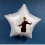 """Фольгированный хвалебный шар-звезда с мемом """"Тони Старк"""""""