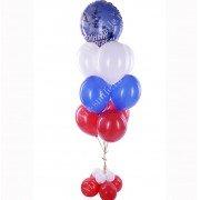 Фонтан из шаров триколор с морской тематикой