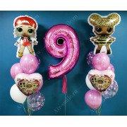 Фонтаны из шаров с куклами лол на 9 лет